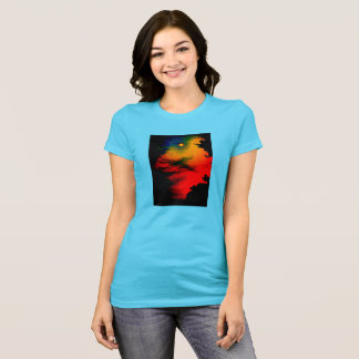 ringer rainbow sunset t-shirt ladies