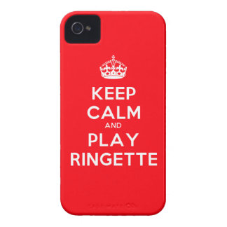 "Ringette IPhone 4 Case - ""Keep Calm"" - Red"
