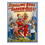 Ringling Brothers & Barnum & Bailey Vintage Clowns Postcard
