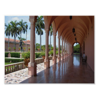 Ringling Museum Courtyard Poster
