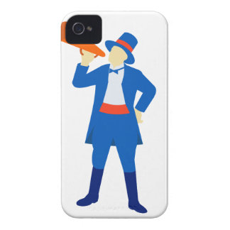 Ringmaster Shouting Bullhorn Retro iPhone 4 Cover