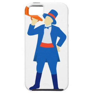 Ringmaster Shouting Bullhorn Retro Tough iPhone 5 Case