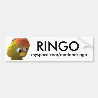 ringozaz2, RINGO, myspace.com/mattandringo Bumper Sticker