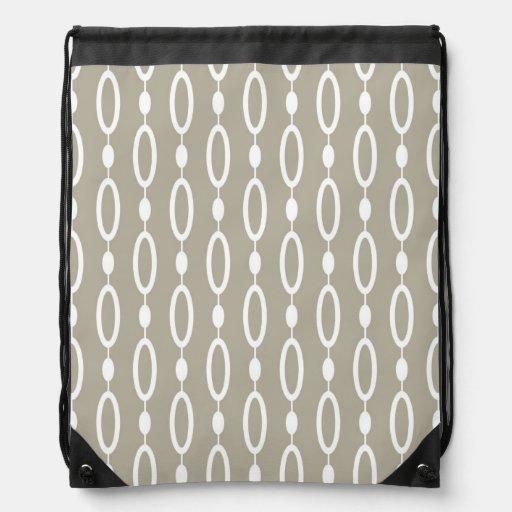 Rings and Beads patterns Drawstring Backpacks