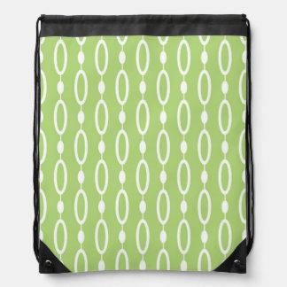 Rings and Beads patterns Drawstring Bag