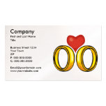 Rings and Heart Business Card