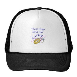 RINGS BIND OUR LOVE CAP