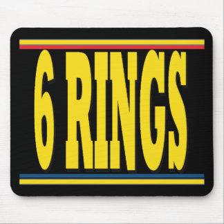 Rings Black Mousepad