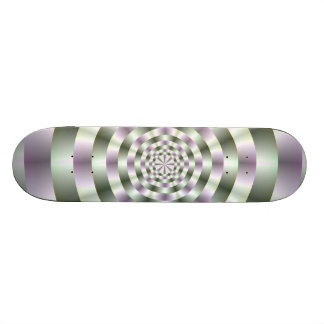 Rings in Green and Purple Skateboard