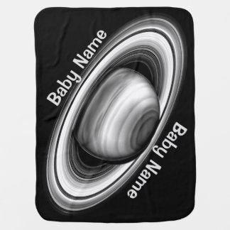 Rings of Gas Giant Saturn - solar system Baby Blanket