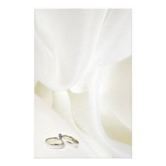 Rings on Satin Stationery Design