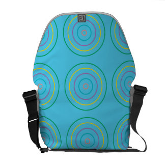 Rings Pattern Green light blue Courier Bags