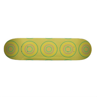 Rings Pattern lime green Skate Deck