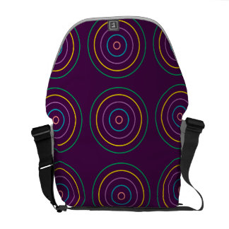 Rings Pattern purple Commuter Bags