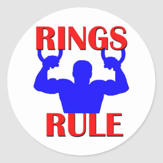 Rings Rule Round Sticker