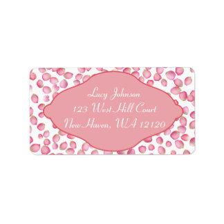 Rink rose petals address labels