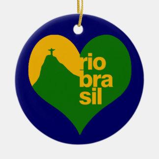 rio 2014 brasil ceramic ornament
