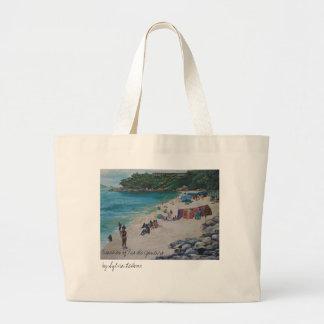 Rio Beach, Beaches of Rio de Janeiroby Sylvia L... Large Tote Bag