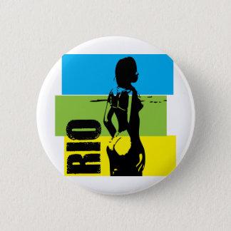 Rio de Janeiro 6 Cm Round Badge