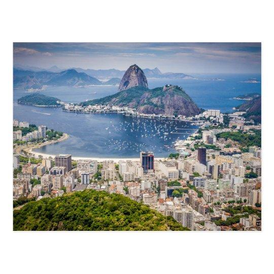 Rio de Janeiro aerial view Postcard
