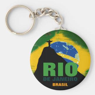 Rio de Janeiro - Brasil flag Key Ring