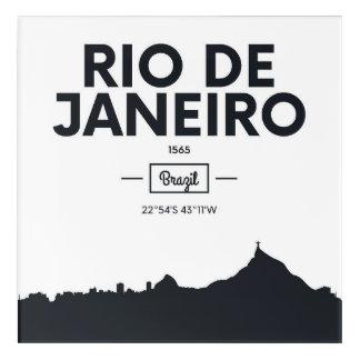 Rio de Janeiro, Brazil | City Coordinates Acrylic Wall Art