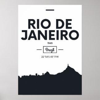 Rio de Janeiro, Brazil | City Coordinates Poster