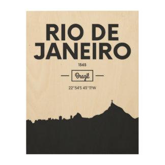 Rio de Janeiro, Brazil | City Coordinates Wood Wall Art