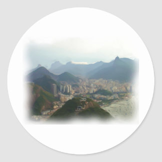 Rio de Janeiro - Brazil Round Sticker