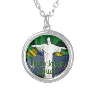 Rio de Janeiro Brazil Silver Plated Necklace