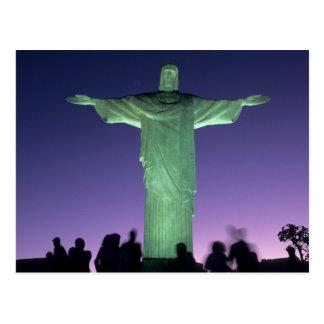 Rio de Janeiro, Brazil. the Christ Statue on Postcard