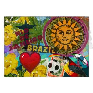 rio de janeiro brazil travel collage america card