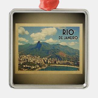 Rio De Janeiro Brazil Vintage Travel Ornament