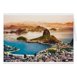 Rio De Janeiro Cityscape View Card