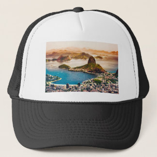 Rio De Janeiro Cityscape View Trucker Hat