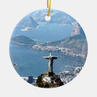 Rio de Janeiro Cristo Statue Ceramic Ornament