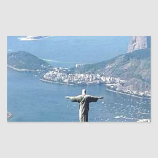 Rio de Janeiro Cristo Statue Rectangular Stickers