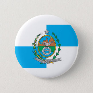 Rio De Janeiro flag 6 Cm Round Badge