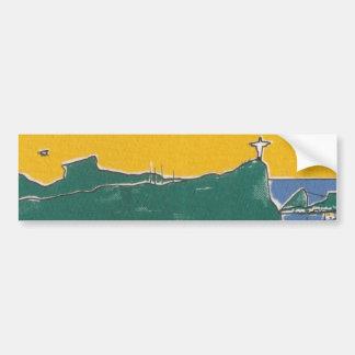 Rio De Janeiro green and yellow Bumper Sticker