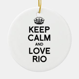 RIO DE JANEIRO KEEP CALM -.png Ceramic Ornament