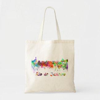 Rio de Janeiro skyline in watercolor Tote Bag