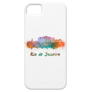 Rio de Janeiro V2 skyline in watercolor Barely There iPhone 5 Case