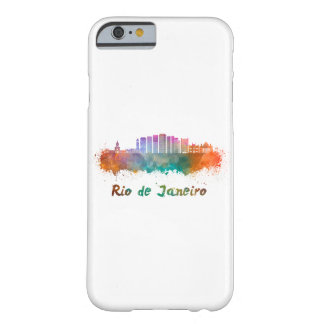 Rio de Janeiro V2 skyline in watercolor Barely There iPhone 6 Case