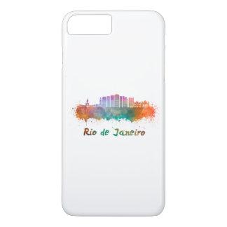 Rio de Janeiro V2 skyline in watercolor iPhone 8 Plus/7 Plus Case