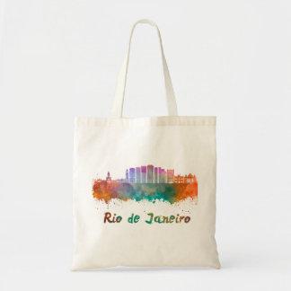 Rio de Janeiro V2 skyline in watercolor Tote Bag