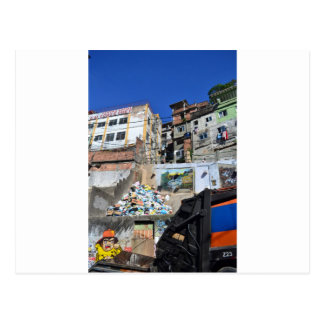 Rio favela postcard