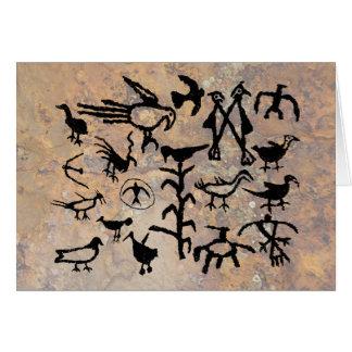 Rio Grande Bird Petroglyphs Card