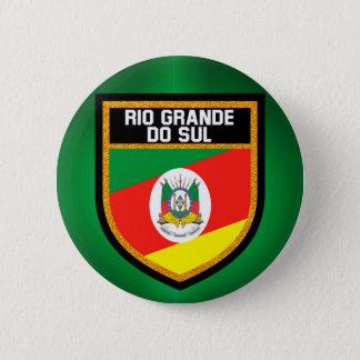 Rio Grande do Sul Flag 6 Cm Round Badge