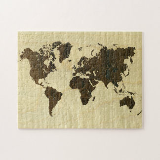 Rio Rosewood and Curly Maple World Map.jpg Jigsaw Puzzle
