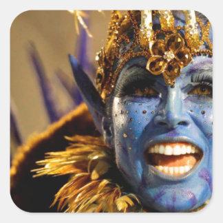 Rio Samba Blue Demon Square Sticker